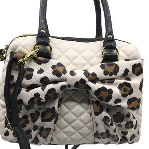 Betsey Johnson White Girls Tie Shoulder Bag